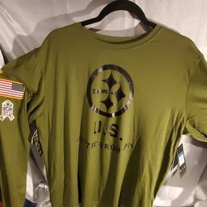 NIKE NEW WITH TAGS SALUTE TO SERVICE STEELERS LONG